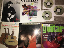 8 Guitar Songbook Cd Book Lot Instruction Books Vintage New Free Ship 4 Cds