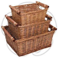 Willow Rectangular Traditional Decorative Baskets