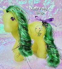 HQG1C Custom Vintage G1 MLP Style Glitter Boy Pony 🌟 CELEBRATION 🌟 w Charm!