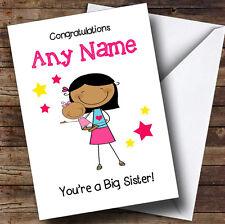 Asiatico sorella NEW BABY congratulazioni BABY GIRL PERSONALIZZATA Sibling CARD