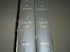 1907 THE TABLET A WEEKLY NEWSPAPER & REVIEW 2 BOUND VOLUMES 109 & 110 - R 1059