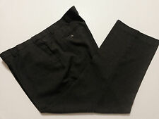 Habands Fit Forever Mens Dress Pants Gray 48 M Expand Waistband (48-52 x 30)