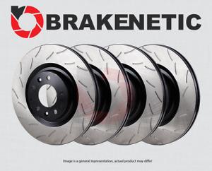 [FRONT+REAR] BRAKENETIC PREMIUM RS SLOTTED Brake Disc Rotors BPRS95427