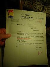 Ancienne Facture et Vignette du Cinquantenaire 1884 1934 Stylo Jif  Waterman