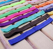 Easy 10X/lot 1.5cm Shiny Elastic Kids Baby Girls Hair Bands Colors Random Hot*