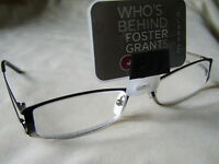 "Foster Grant""Twain""Unisex Metal Framed Reading Glasses RRP £15.50 Now £5.99.."