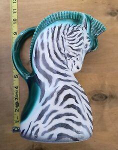 Rare Erphila Czechoslovakia Ditmar Urbach Czech Pottery Zebra Pitcher