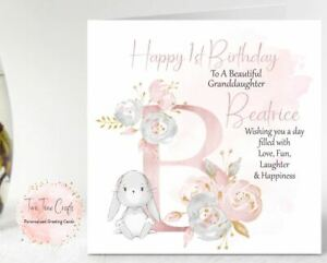 Personalised Birthday Card 1st 2nd 3rd Granddaughter Sister Niece, Any Age