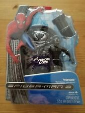 Spiderman 3 Venom With Ooze Canister & Sticker Action Figure Brand New