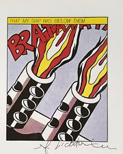 ROY LICHTENSTEIN HAND SIGNED SIGNATURE * AS I OPENED FIRE, PANEL 3 * PRINT W/COA
