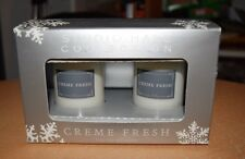 Studio Hall Creme Fresh 2 Piece Votive Candle Set NEW IN BOX - MACYS msrp $20