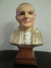 Vintage Saint Pope John Paul II Bust Chalkware Ceramic Bust Head