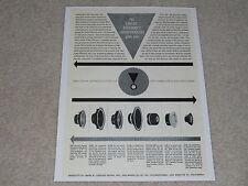 JBL 1962 Speaker Ad, 1 page, LE20, LE30, LE75, LE85, LE15a, LE10a, LE14c, LE8t