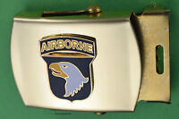 101st Airborne Belt  - Army black Web Belt &  brass buckle