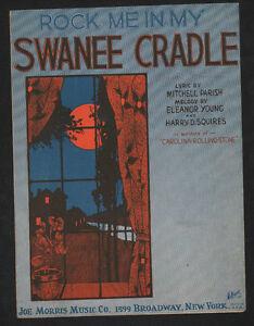 Rock Me In My Swanee Cradle 1922 Hoffman Cover Art Sheet Music