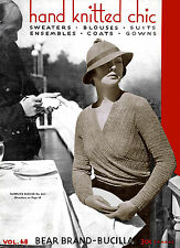Bear Brand #68 c.1933 Vintage Knitting & Crochet Women's Fashions Pattern Book