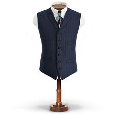 RRL Ralph Lauren Made in Italy Striped Stretch Wool Vest-MEN- 46 L