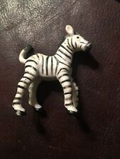 Vtg Celluloid Toy Miniature Safari Ltd. Zebra Wildlife Animal Figurine