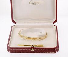 Vintage CARTIER Love Bracelet 18k Yellow Gold 6.3mm Size 16  Original Box