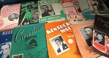 Large Collection Of 84 Original Music Song Sheets Books Job lot Wholesale