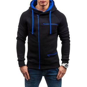 Men's Winter Warm Hoodie Hooded Sweatshirt Coat Jacket Outwear Jumper Sweater