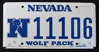 """NEVADA """" GO PACK WOLF - NFL - FOOTBALL """" NV University Specialty License Plate"""