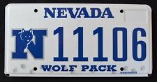 "NEVADA "" GO PACK WOLF - NFL - FOOTBALL "" NV University Specialty License Plate"