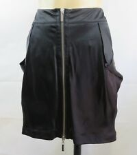 Size M 12 Karen Millen Ladies Black Zip Skirt Chic Cocktail Evening Party Design