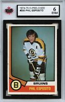 1974-75 O-Pee-Chee #200 Phil Esposito Graded 6.0 ENM (100519-115)