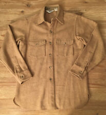 Woolrich Mens Vintage 60's Shirt Jacket Wool Blend Beige Tan - Medium Chest 42