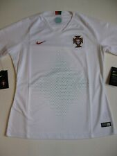 Portugal Women's Nike Dri Fit 2018 White Large World Cup Soccer Jersey