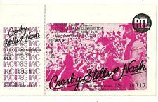 RARE / TICKET CONCERT - CROSBY STILLS & NASH : LIVE EN FRANCE 1983 / COMME NEUF