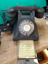 More details for vintage gpo black bakelite  telephone (type 332 mk2