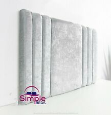"""SUPER PADDED HEADBOARD BED HEAD IN CRUSHED VELVET - 20"""" OR 28"""" FREE DELIVERY"""