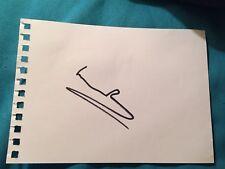 William Roache Hand Signed White Card Ken Barlow Coronation Street Autograph