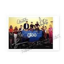 Glee - Lea Michele, Jane Lynch - Autogrammfoto mit allen Unterschriften [A2] 