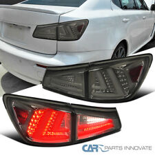 Fit 06-08 Lexus IS250 IS350 Smoke Full LED Tail Lights+Tinted Trunk Brake Lamps
