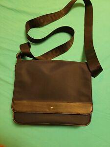 Genuine Montblanc Nightflight Blue Nylon Messenger Bag 116784