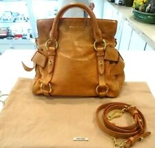 Pre-owned - Miu Miu Orange Vintage Vitello Lux Bow Satchel Bag