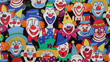 Clown Face Fabric - by the yard