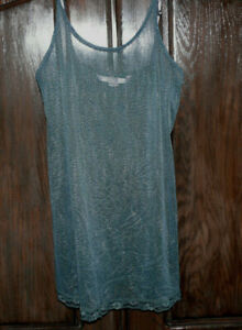 Vintage Victoria's Secret Cheetah Intimate Sheer Slip Dress Size Medium