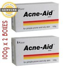 2 Boxes New Stiefel Acne-Aid Bar 100g Pimple Prone & Oily Skin Acne Aid Soap