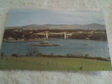 Vintage postcard THE MENAI SUSPENSION BRIDGE, WALES