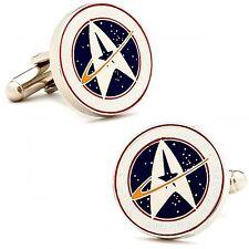 Star Trek CUFFLINKS Starfleet Command w/Gift Box