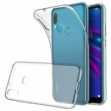 For Huawei Y6 2019 Case Clear Slim Gel Cover and Glass Screen Protector