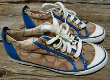 Coach Brown & Blue Shoes Sz 5.5B