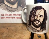 """Game of Thrones The Hound """"You look like someone who'd name their sword"""" Mug"""