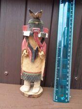 "VTG. Hopi Kachina Doll  Warrior 7.5"" Signed L Wally"