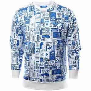 Adidas Originals Street Graphics Sweatshirt Trefoil Alloverprint AZ1125 NEU