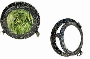 12'' Handcrafted Porthole Mirror Shipwrecked Premium Solid Aluminum Black